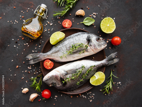 Fototapeta Fresh fish dorado