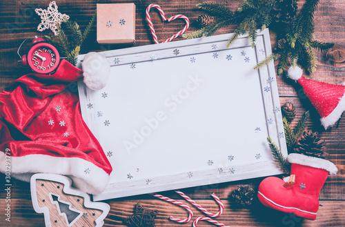 Canvastavla  Merry Xmas and Happy New Year