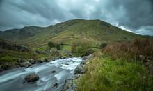 Mountain Creek At Autumn In Lake District