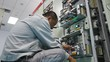 Electrical engineer to check and fix electrical equipment in Substation building of Factory