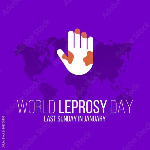 Fotografie, Obraz Vector illustration on the theme of World Leprosy Day in January