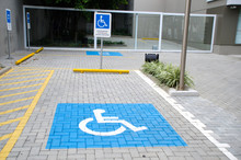 """Vacancy Reserved For People With Physical Disabilities. Sign Text Translation: """"Parking Reserved For Authorized Vehicles"""""""