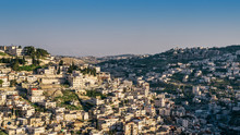 High Perspective View Of Silwan Village In The Outskirts Of Jerusalem, Israel