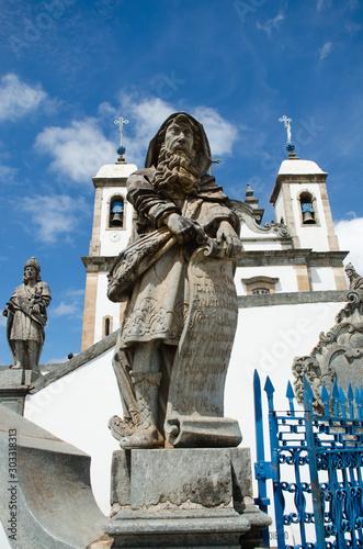 Prophet  Isaiah sculpture made by Aleijadinho in Santuário do Bom Jesus de Matosinhos Wallpaper Mural