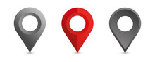 Set Of Location Icons. Modern ...