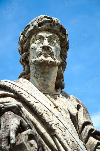 Платно Prophet Jeremiah sculpture made by Aleijadinho in Santuário do Bom Jesus de Matosinhos