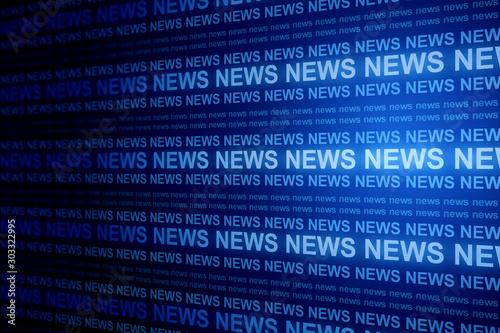 Creative blue news background
