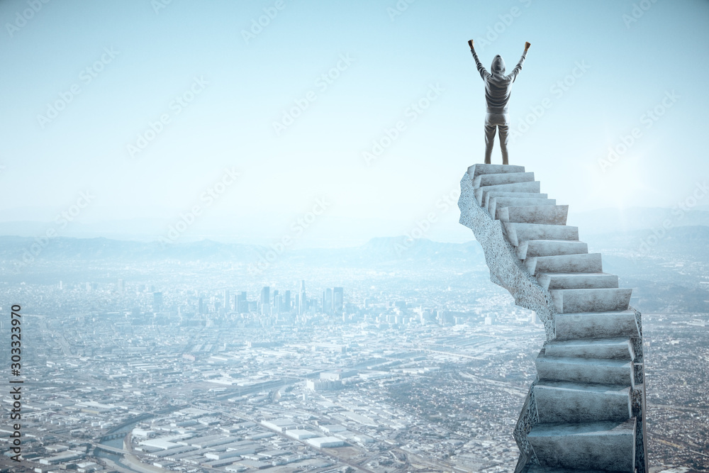 Fototapeta Leadership and victory concept