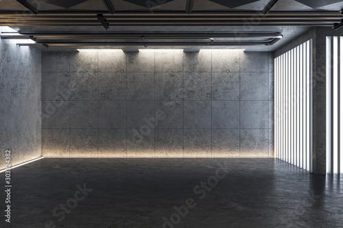 Light concrete gallery interior Fototapeta