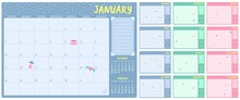 Cute Monthly Planner Template....