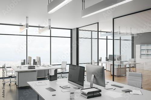 Fotomural  Scandinavian coworking office interior