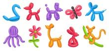 Cartoon Balloon Animals. Birth...