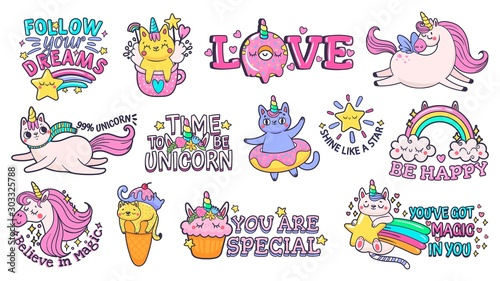 Cute slogan patches Wallpaper Mural