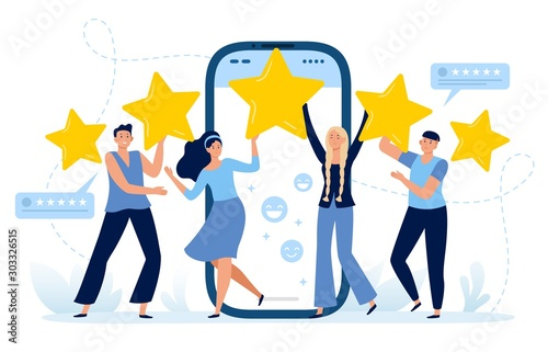 Fotomural Five stars mobile app feedback