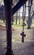 canvas print picture - Rosary in front of the chapel in Gloett, Bavaria in Germany