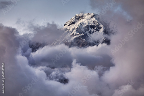 Annapurna South peak in Himalayas Wallpaper Mural