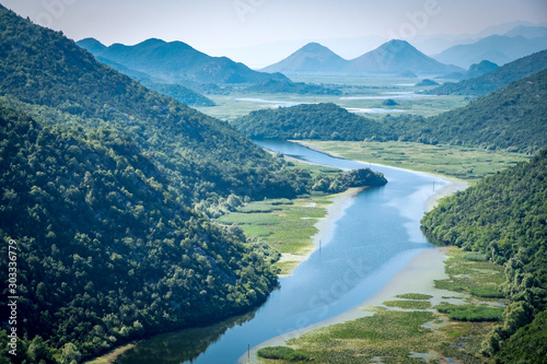 Montenegro, Crnojevica river in national park Wallpaper Mural