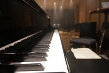Klavier Im Nebeligen Raum
