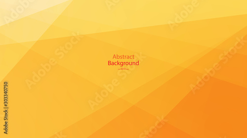 Warm tone and Orange color background abstract art vector Slika na platnu
