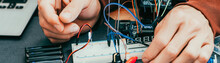 Electronic Invention. Male Eng...