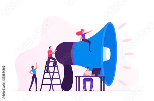 Cuadros en Lienzo  Social Marketing Concept