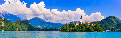 One of the most beautiful lakes of Europe - lake Bled in Slovenia
