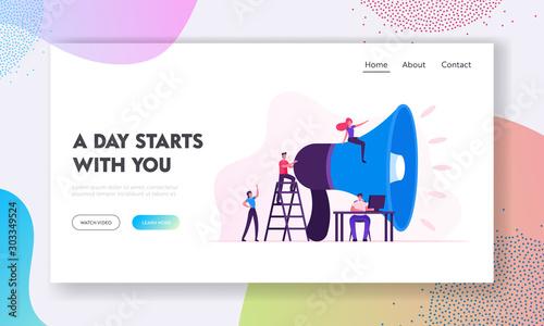 Fototapeta  Social Marketing Website Landing Page