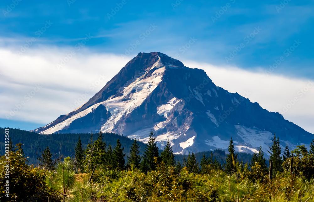 Fototapety, obrazy: Mount Hood, Oregon's highest mountain
