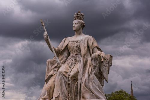 Stampa su Tela Sculpture of Queen Victoria