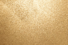 Gold Color Of Glitter Textured...