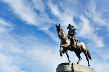 George Washington Statue At Bo...
