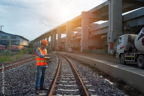Fotografía  train at the railway station