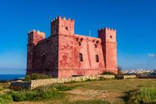 Saint Agatha's Tower Aka The Red Tower, Malta.