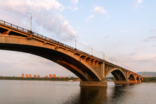 Krasnoyarsk Bridge. Yenisei. ...
