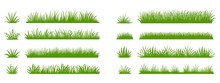 Green Grass Silhouette. Cartoo...