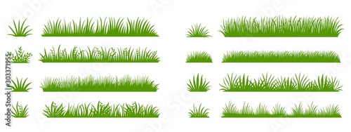 Green grass silhouette Wallpaper Mural