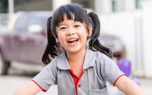 Happy Little Asian Girl Child ...