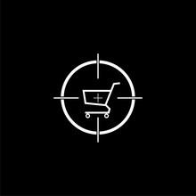 Shopping Cart With A Cross Hai...