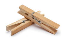 Wooden Clothespin Isolated On ...
