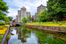 Westgate Towers And Guildhall In Canterbury, England, UK