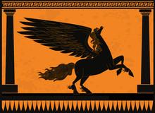 Black And Orange Pegasus Mytho...
