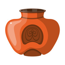 Ceramic Vase Vector Icon.Cartoon Vector Icon Isolated On White Background Ceramic Vase .