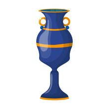 Flower Vase Vector Icon.Cartoon Vector Icon Isolated On White Background Flower Vase .