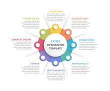 Circle Infographics - Eight El...