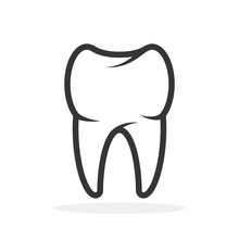 Vector Tooth Icon.