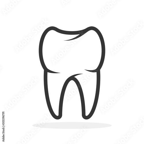 Fototapeta Vector Tooth icon.