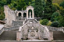 View Of The Famous Scalinata Di Santa Augusta Monument In Vittorio Veneto In Italy