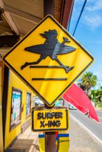 Unique Street Sign In Haleiwa, Oahu, Hawaii