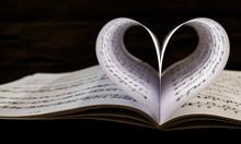 Heart Shaped Sheet Music Book
