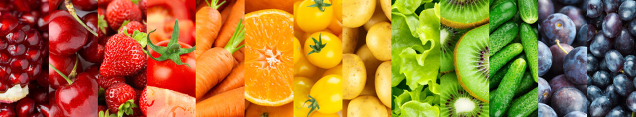 Background of fruits and vegetables. Fresh food. Healthy lifestyle